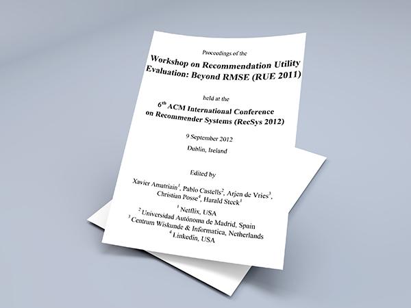 دانلود مقاله Workshop on Recommendation Utility Evaluation: Beyond RMSE (RUE 2011)